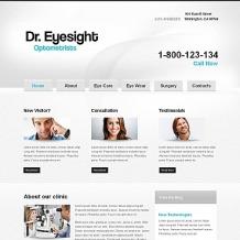 Optometrist's Moto CMS HTML Template