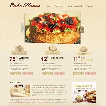 Sweet Shop Moto CMS HTML Template