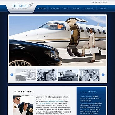 Airline Tickets Moto CMS HTML Template
