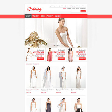 Wedding Shop Responsive Jigoshop Theme
