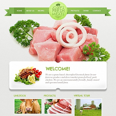 Cattle Farm Moto CMS HTML Template