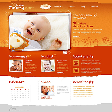 Newborn Responsive Website Template