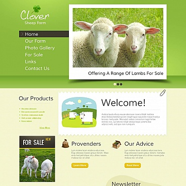 Sheep Farm Moto CMS HTML Template