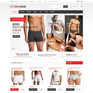 Men's Underwear OpenCart Template