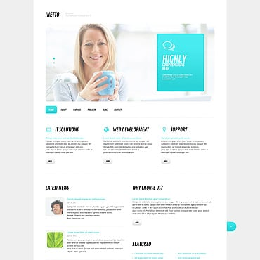 Internet Responsive WordPress Theme