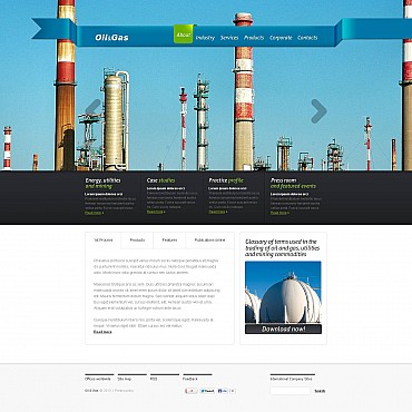 Gas & Oil Flash CMS Template