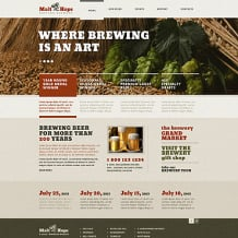 Brewery Responsive Website Template