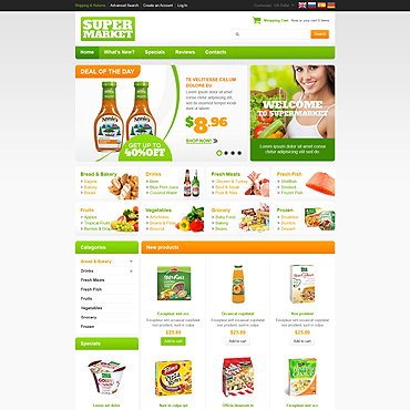 Grocery Store OsCommerce Template