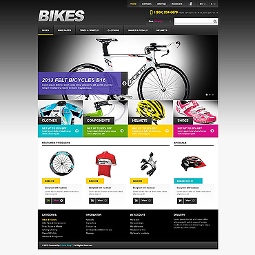 Cycling Responsive PrestaShop Theme