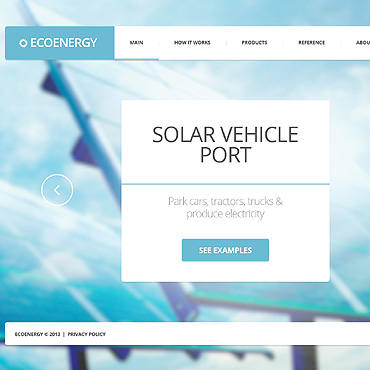 Solar Energy Website Template