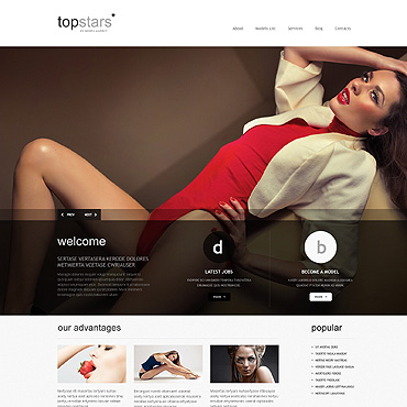 Model Agency Responsive WordPress Theme