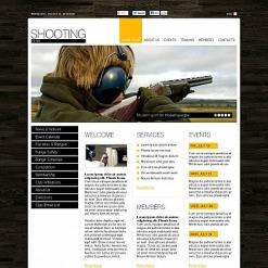 Shooting Flash CMS Template