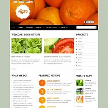 Vegetable Flash CMS Template