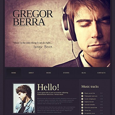 Singer Flash CMS Template