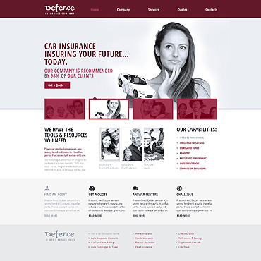 Insurance Responsive Website Template
