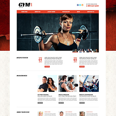 Gym for Health and Beauty Joomla Template #46093