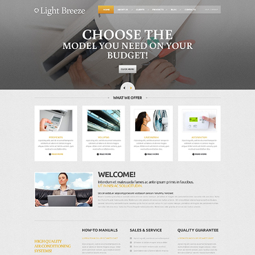 Air Conditioning Responsive WordPress Theme #46277