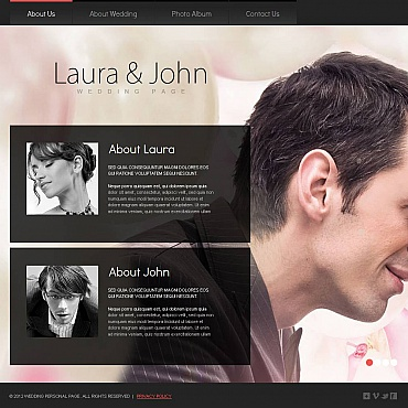 Wedding Album Moto CMS HTML Template