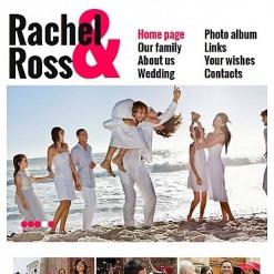 Wedding Album Facebook HTML CMS Template