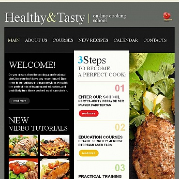 Cooking Facebook HTML CMS Template