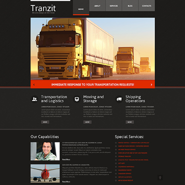 Trucking Responsive Website Template