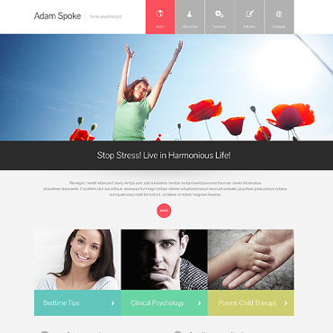 Family Psychologist Responsive Website Template