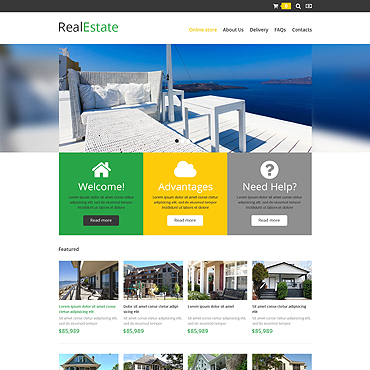 Real Estate Agency VirtueMart Template