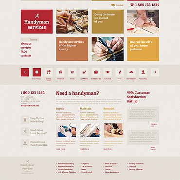 Maintenance Services Responsive Website Template