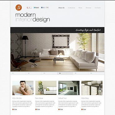 Interior & Furniture Flash CMS Template