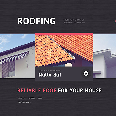 Roofing Company Website Template