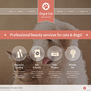 Cat Website Template