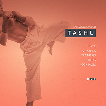 Martial Arts Website Template