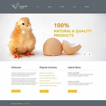 Poultry Farm Moto CMS HTML Template