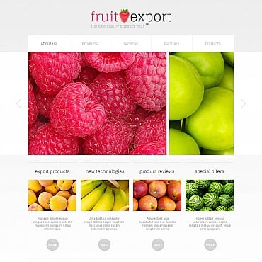 Fruit Moto CMS HTML Template