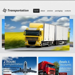 Trucking Facebook HTML CMS Template