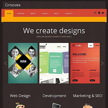 Design Studio Facebook HTML CMS Template