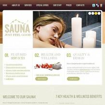 Sauna Facebook HTML CMS Template
