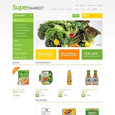 Grocery Store ZenCart Template