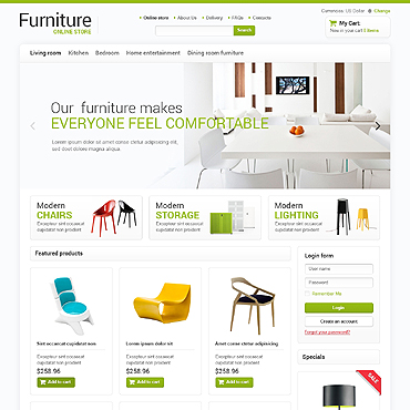 Furniture VirtueMart Template