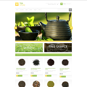 Tea Shop Responsive Magento Theme