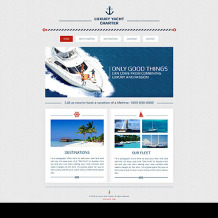 Yachting Wix Website Template