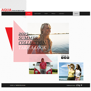 Fashion Store Wix Website Template