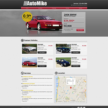 Car Rental Wix Website Template