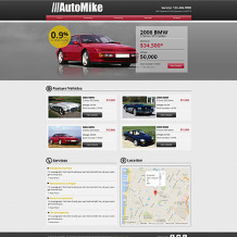 Car Rental Wix Website Template