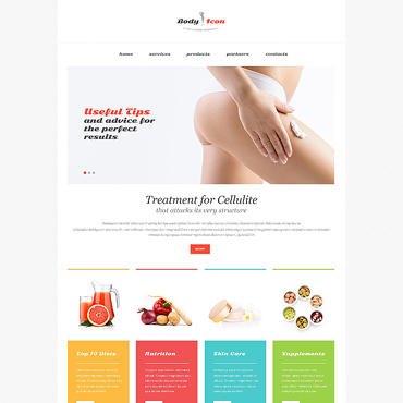 Weight Loss Responsive Website Template