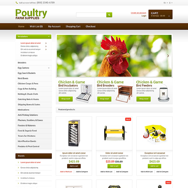 Poultry Farm Responsive OpenCart Template