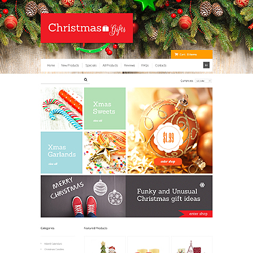 Christmas ZenCart Template