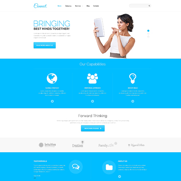 Communications Responsive WordPress Theme