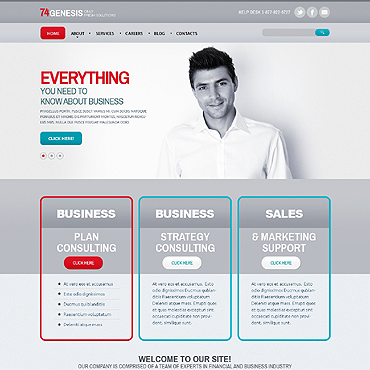 Merchant Services Responsive Website Template #47589