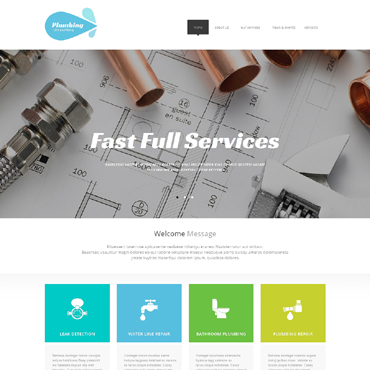 Plumbing Pro Website Template #47605
